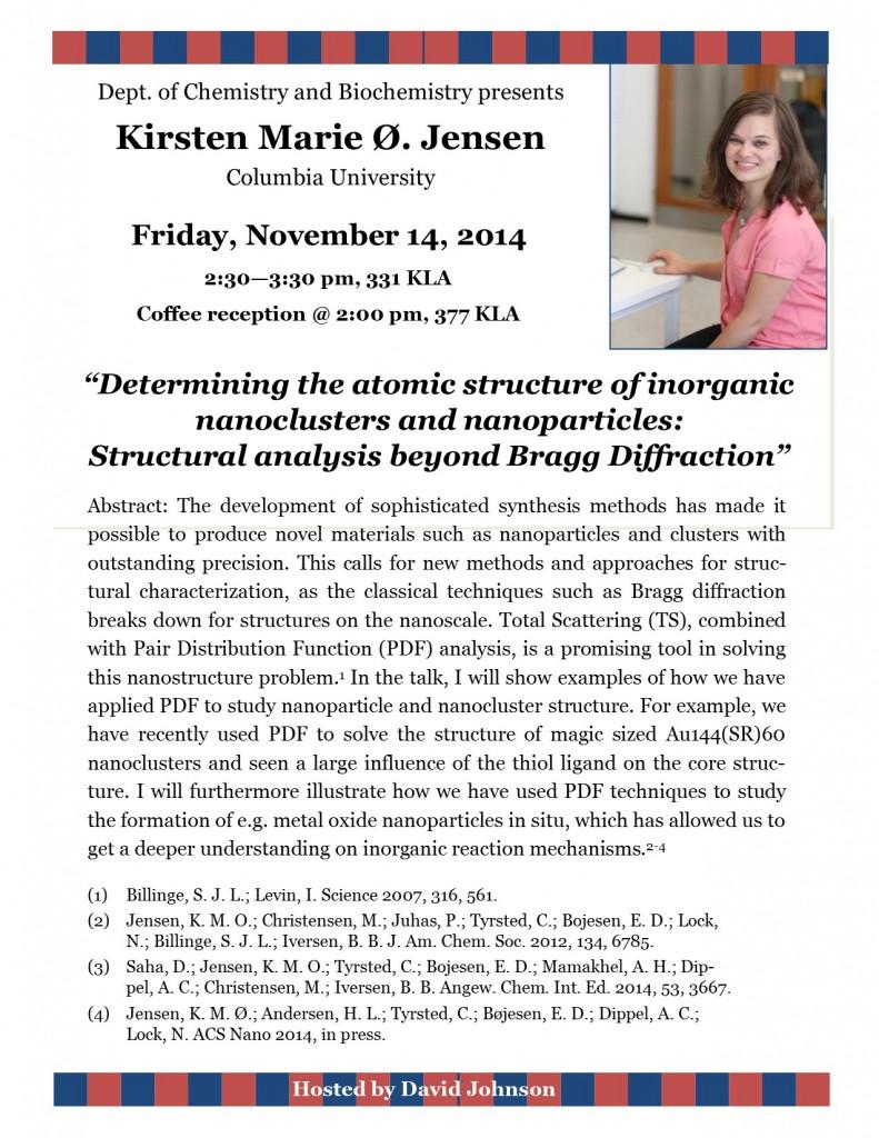 Seminar Poster -Kirsten  Jensen