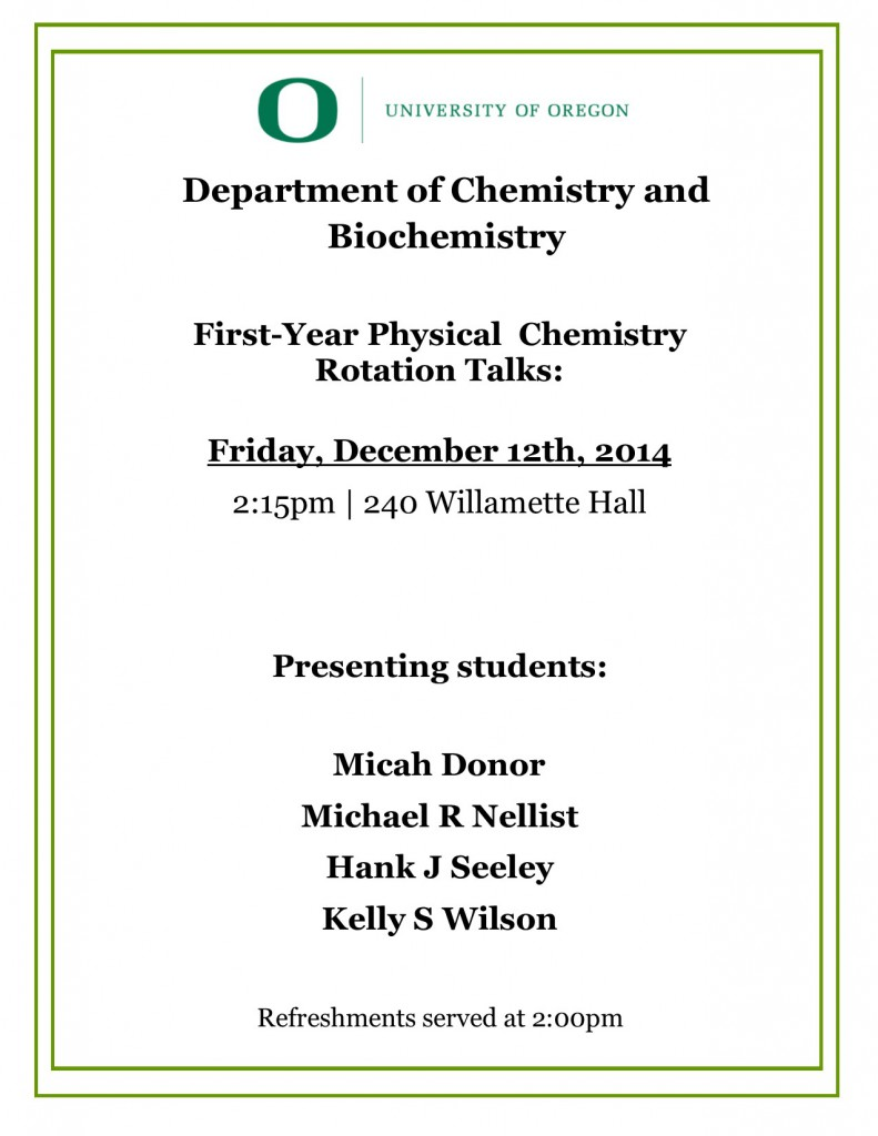 1st Fall '14 Rotation Talks Poster