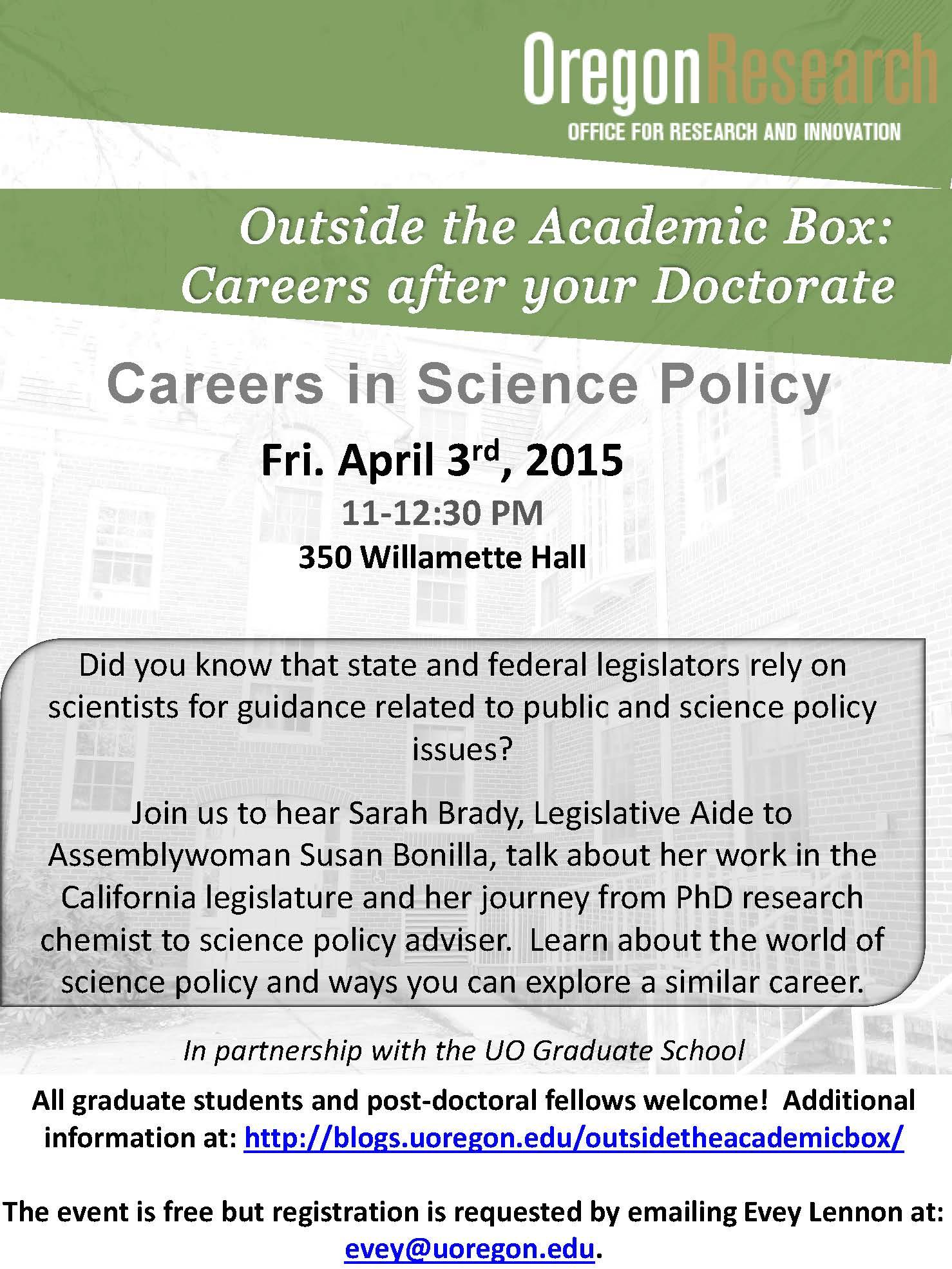 Science Policy Seminar 4-3-15