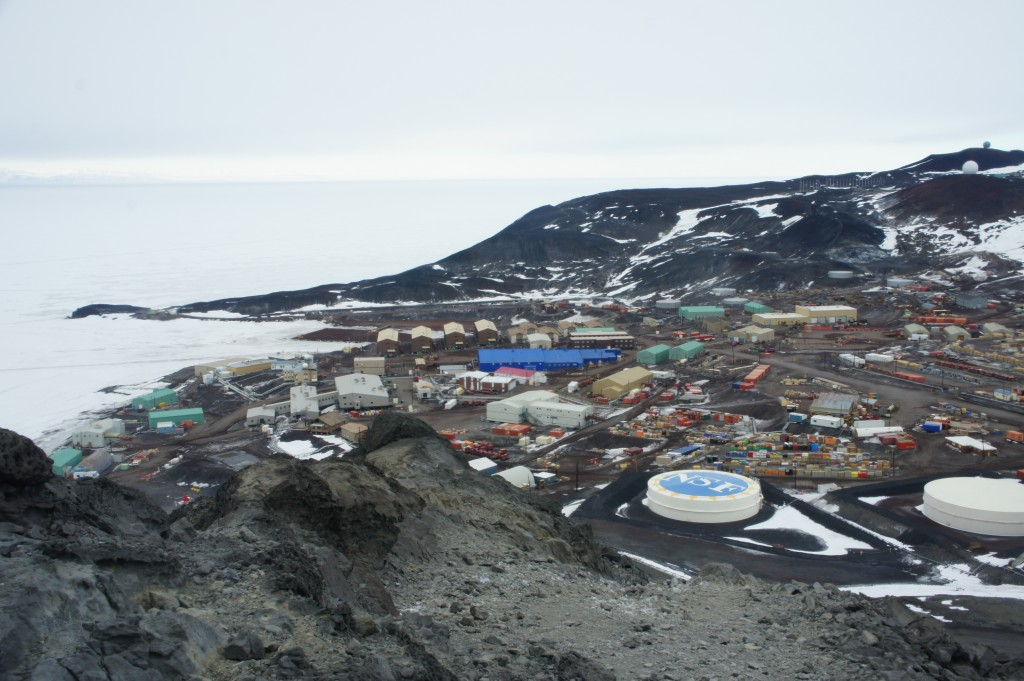 View of McMurdo Station from Observation Hill -  click for slide show