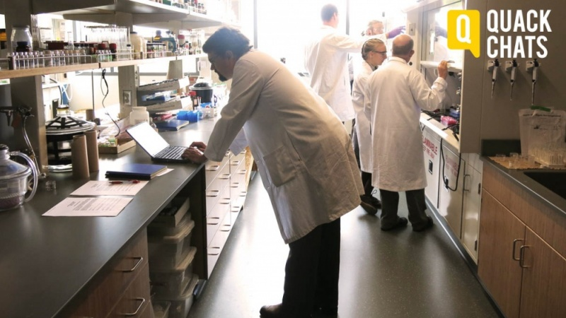 Photo of Darren Johnson in his laboratory