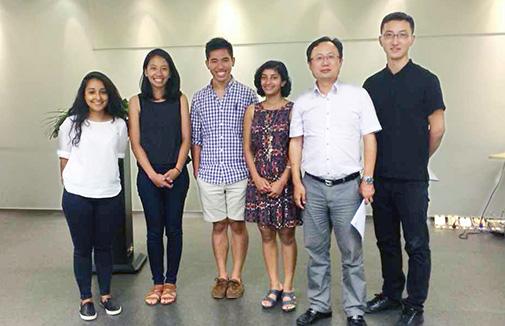 Zhu Wangwei DingShun 2014 interns