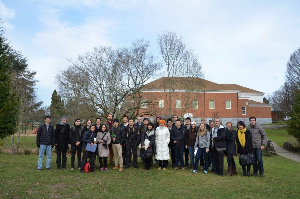 Site visit at Milwaukie, Oregon. Jan.,2015. Xian Dai architects and University of Oregon architecture students participated the studio, Two Countries, One Planet, co-taught by Nancy Yen-wen Cheng and Dr. Lanbin Ren.