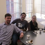 CSBP's newest graduate, Matthijs Reinders, with Tzvetan Gatchev and Alexandra Velasco