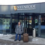 Robin Clement, Director of the Master of Accounting Program standing at the entrance of Nyenrode Business University
