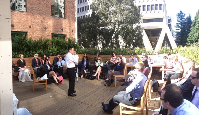 Dave Chen speaks to Oregon MBA's at Equilibrium Capital's SF Office