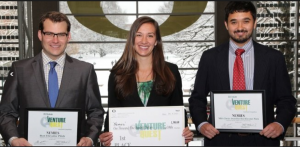 From Left: Alex Hankins (JD), Lindsey Arkfeld (MBA), Derek Schloss (JD/MBA),
