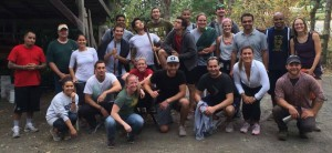The class of 2016 MBA's volunteering at Mount Pisgah.