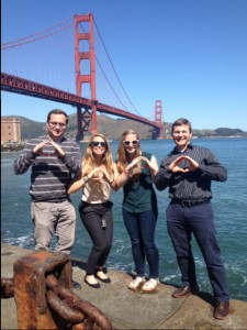 Showing our Oregon pride under the Golden Gate Bridge