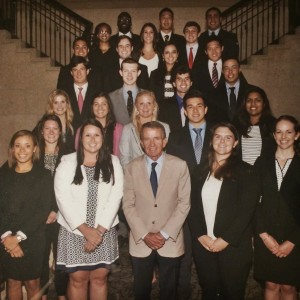 The 2015 PGA TOUR Summer Internship Class with Commissioner Tim Finchem