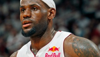 Red Bull Sponsorship on Lebron James' jersey