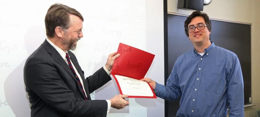 Mark Lonergan Receives Tykeson Teaching Award