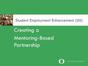 Creating a mentoring based partnership