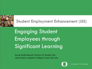 Engaging Student Employees through Learning