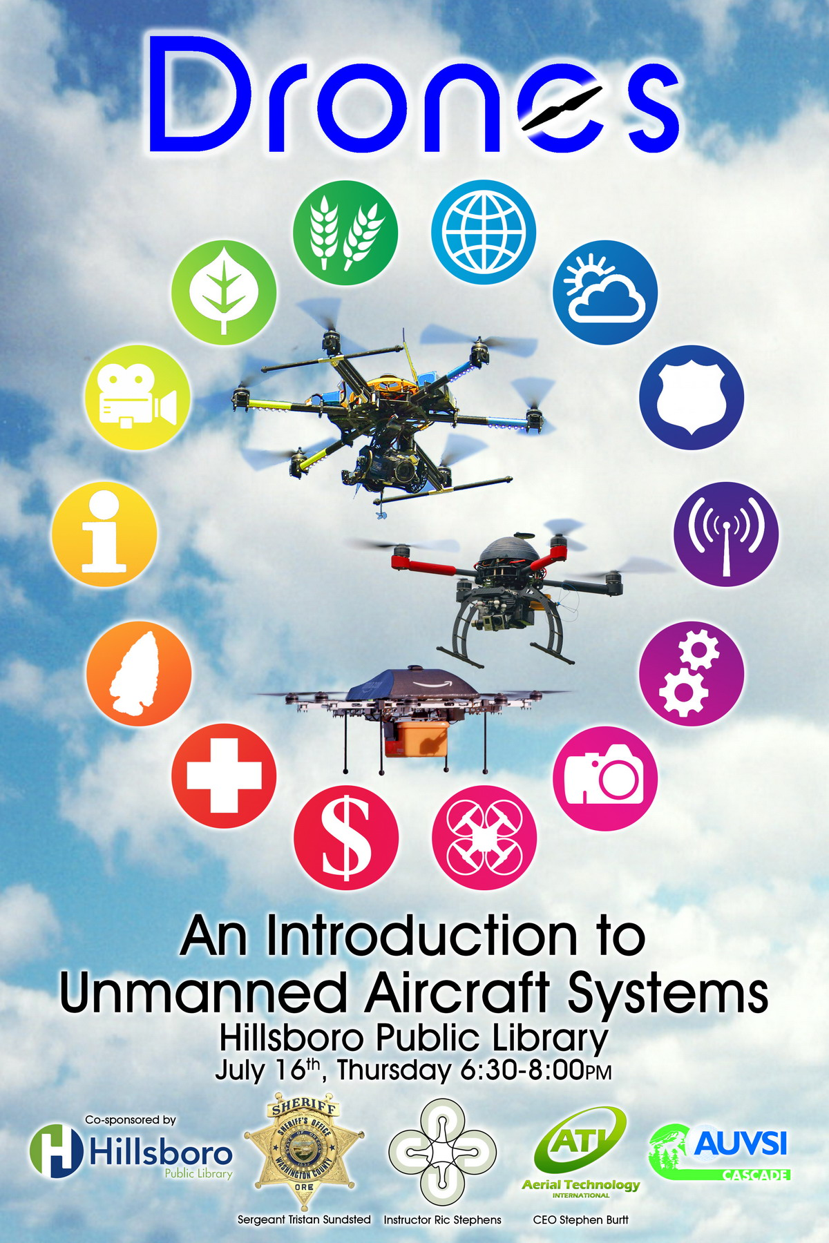 Hillsboro Public Library Drones Introduction Poster sm