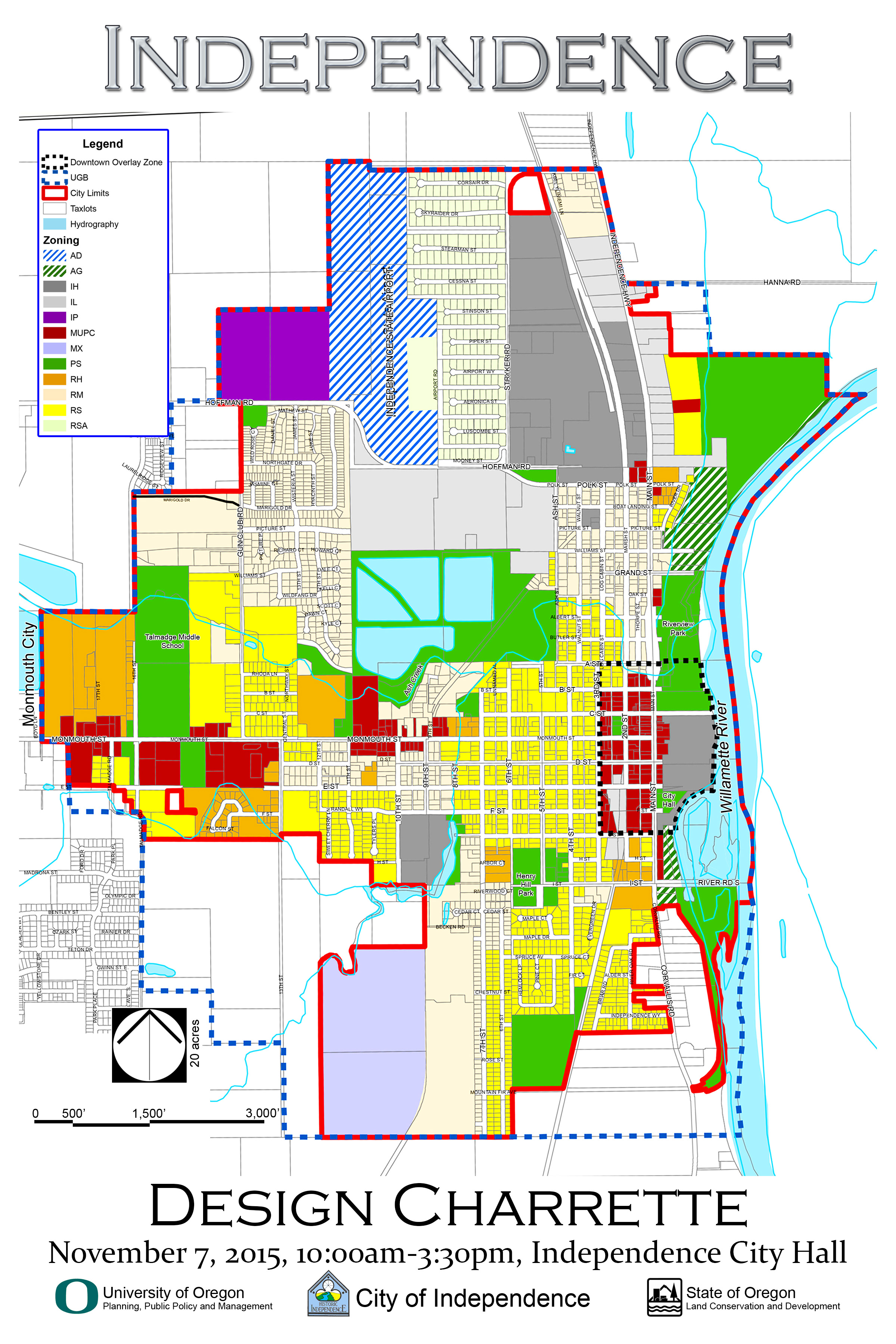 Independence Design Charrette Zoning Map