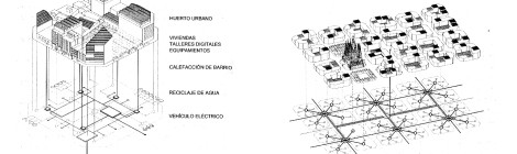 Self-Sufficiency Drawings by Vicente Guallart