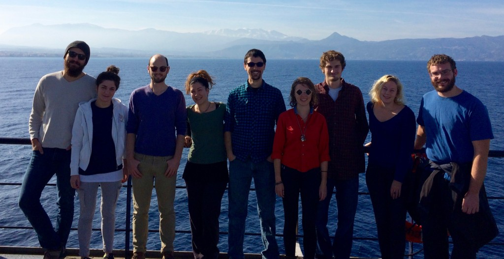 Graduate students on the PROTEUS cruise 2015.