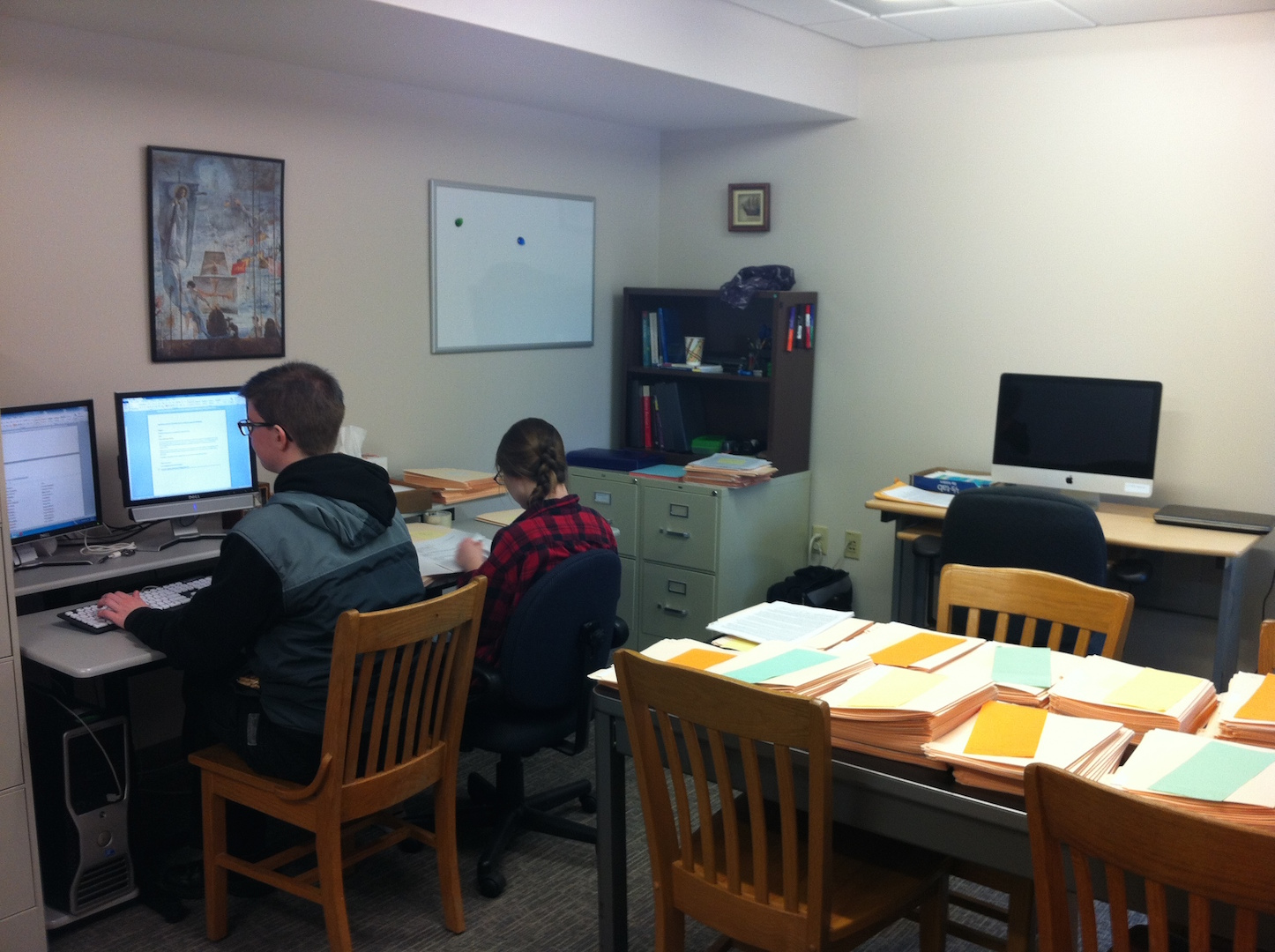 Research Assistants busy at work.