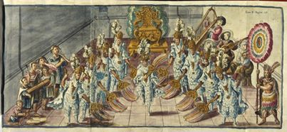 Dance of the Emperor Moctezuma, 1763. (Public domain.)