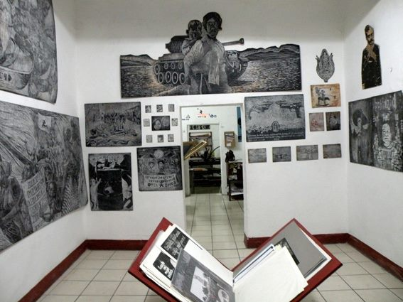 Espacio Zapata on Porfirio Díaz, with exhibition space (Photo, ASARO collective)