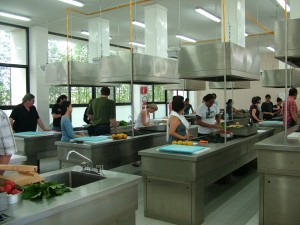 Our cooking class at La Salle in 2011. Ya gotta love the hairnets!!!! (S. Wood)
