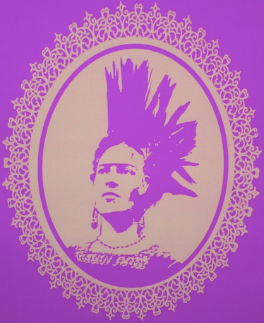Frida punk in purple (Photo, ASARO collective)