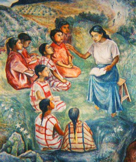 Gender neh summer institute for school teachers oaxaca for Education mural