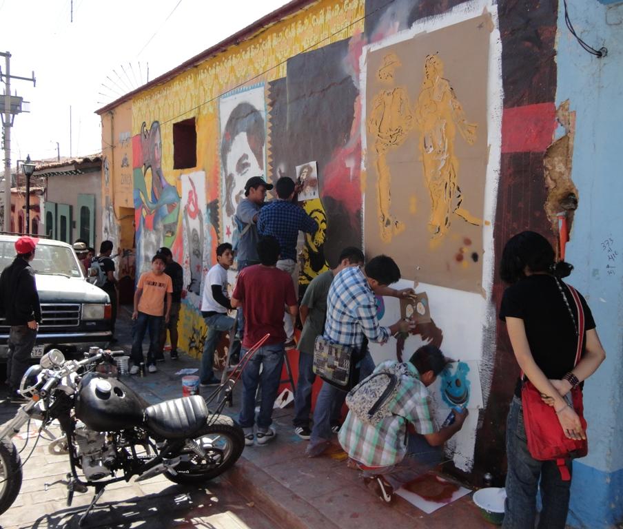 Stencil workshop (ASARO photo)