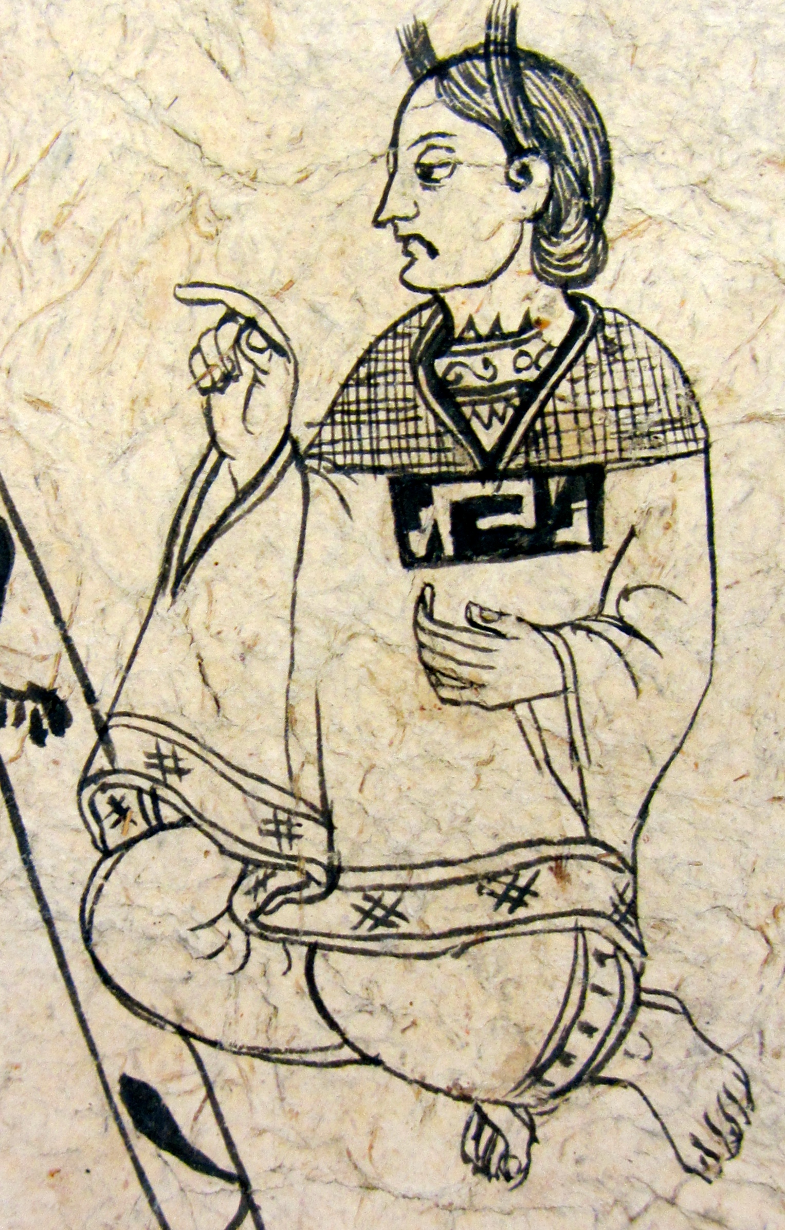 Cihuapilli (indigenous maiden) in a manuscript at the Benson Library at UT Austin, bundled with the Lienzo de Tlaxcala fragment. (S. Wood photos 5/30/2014)