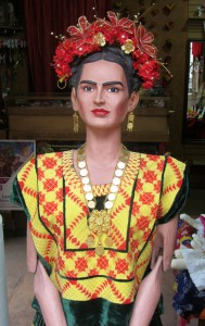 Kahlo as a Tehuana. Shop detail. (Photo, S. Wood, Oaxaca, 2014)