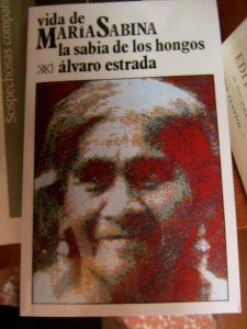 Book featuring María Sabina. Grańén-Porrúa bookstore, Oaxaca. (Photo, S. Wood, 2014)