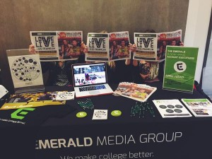The Emerald Media Group's table at last year's #KnowPR Night.