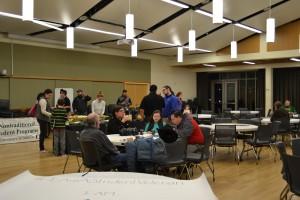 UO Bateman team Student Veteran night event.