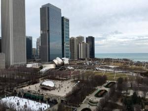 Overlooking millennium park