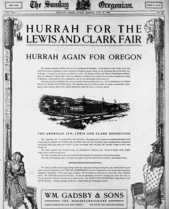 Hurrah for the Lewis and Clark Fair   Oregon Digital Newspaper Program