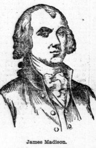 Drawing of James Madison
