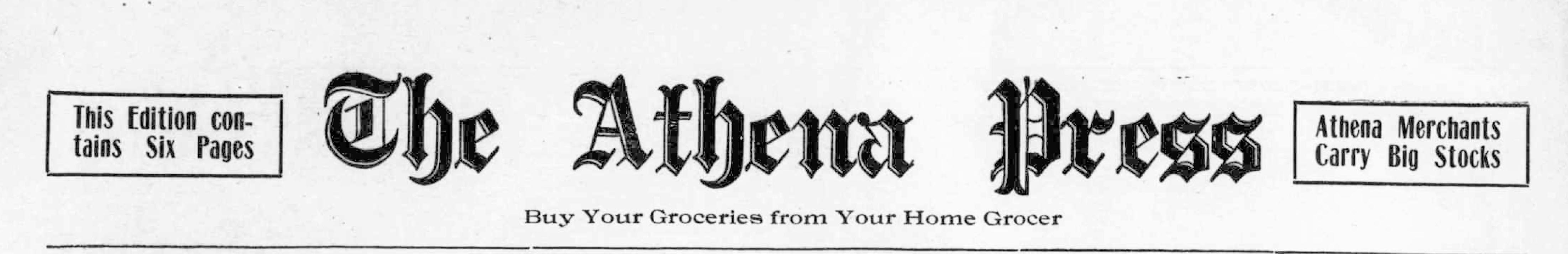 The Athena press. (Athena, Umatilla County, Or.) August 14, 1908, Image 71. http://oregonnews.uoregon.edu/lccn/sn96088356/1908-08-14/ed-1/seq-1/