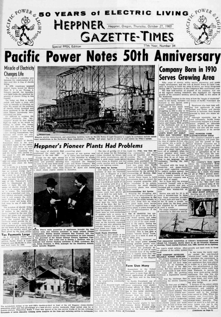heppner_gazette_times_front_page_19601027