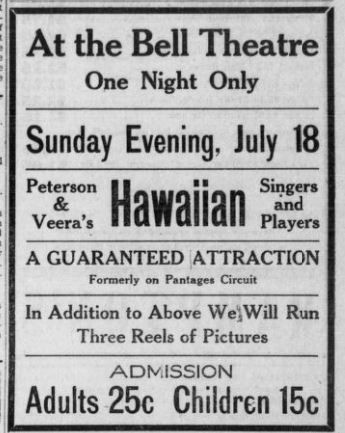 Advertisement for Bell Theatre
