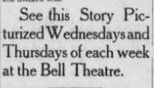 Ad for movies at Bell Theatre