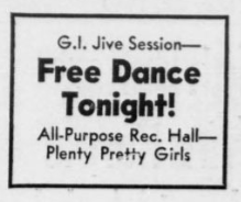 Free Dance Tonight! news clipping