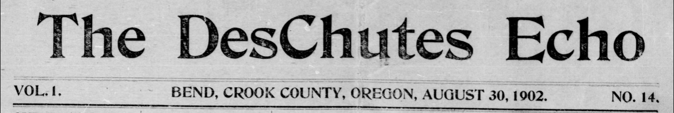 The Deschutes Echo title