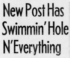 Swimming hole news clipping