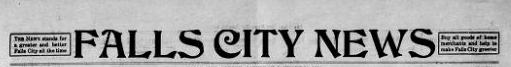 Falls City News masthead