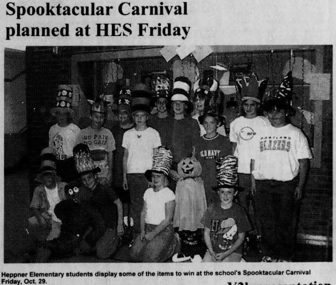 Clipping about a haunted carnival event