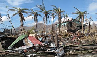 Destruction from Typhoon Haiyan in Tacloban, Philippines