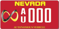 Nevada Autonomous Vehicle License Plate