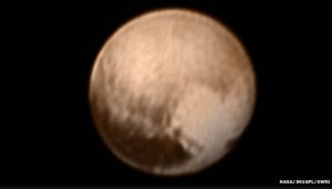 Pluto as seen from the New Horizons Spacecraft taken July 7, 2015.