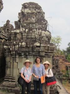 Scientists restoring Angkar Wat temples, Siem Reap